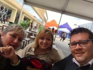 Nuestra directora de Marketing, Claudia Gaviria con Iris de CLC Colombia y nuestro asesor Juan Triviño.